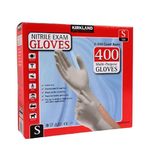 Kirkland Nitrile Gloves 400 Pack/Multi-Purpose/Latex-free/Kimberly-Clark